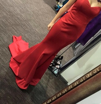 dress red prom fit and flare mermaid tight sexy