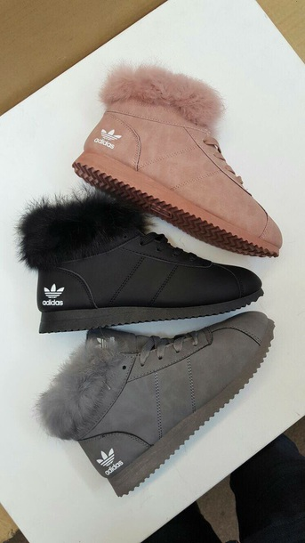adidas fur shoes