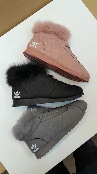 shoes, adidas shoes, adidas, fur