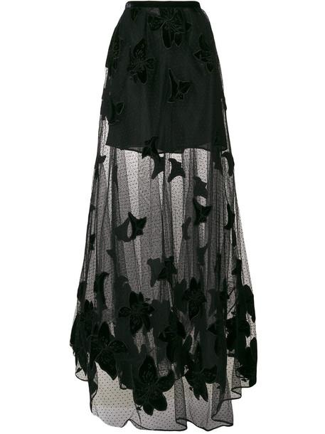 skirt maxi skirt maxi women lace black silk