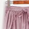 Purple lace trim drawstring waist velvet wrap shorts | makemechic.com