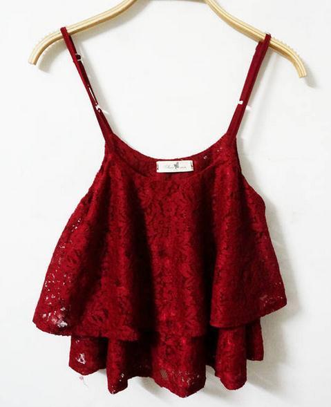 Cute lace top fashion / fanewant