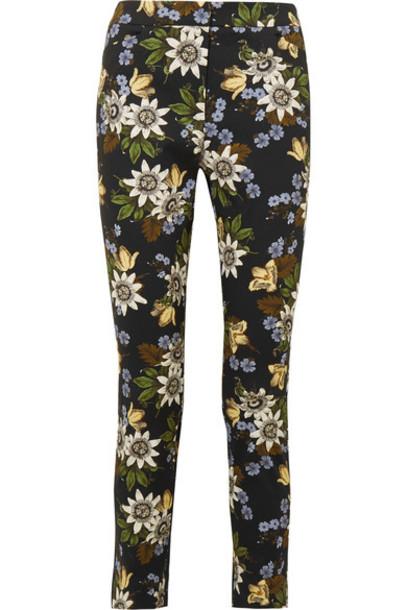 Erdem pants floral cotton print black