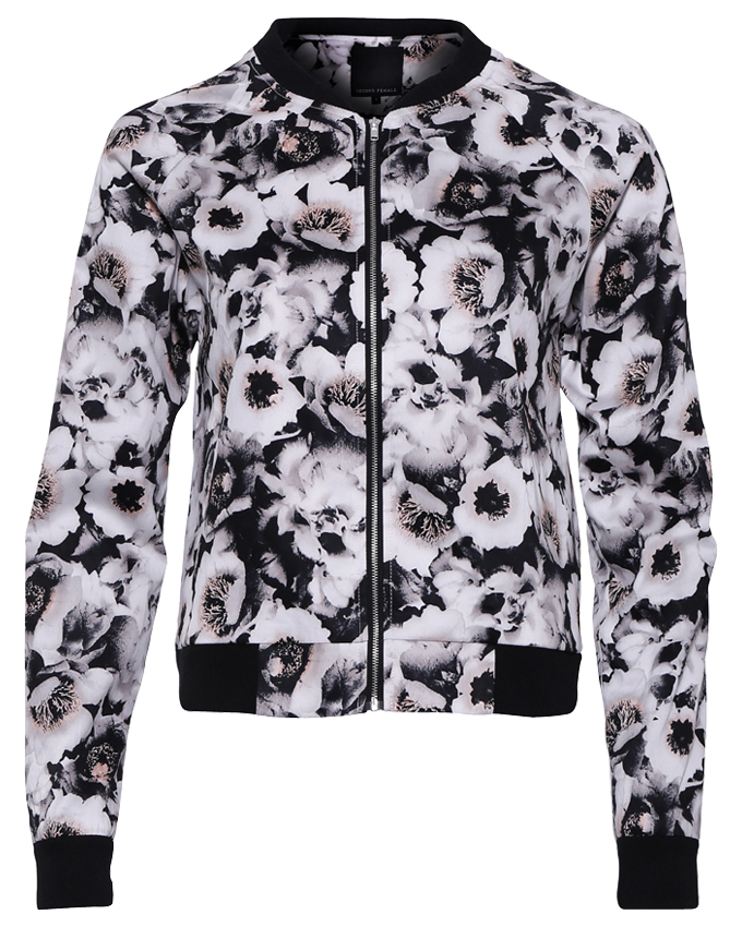 Second Female Bomber Jacket Flower - Welikefashion.com