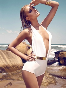 Bridget Swimsuit in White | NOT JUST A LABEL
