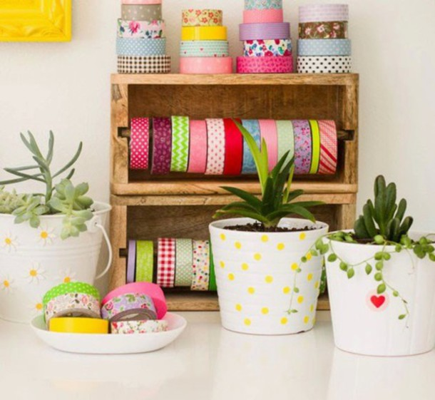 diy office supplies. home accessory girly organizer diy cute washi tape office supplies