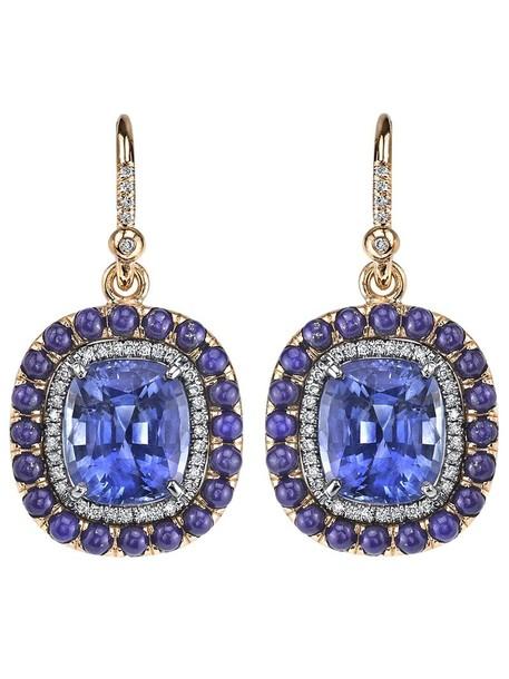 Irene Neuwirth women earrings blue jewels