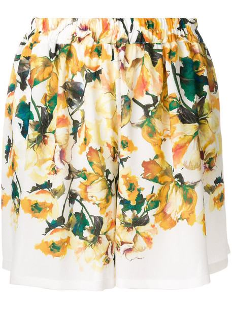 ROSEANNA shorts women spandex floral print yellow orange