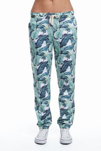 pants print printed joggers floral flowers green green pants floral pants leaves banana leaves print sneakers fusion green joggers