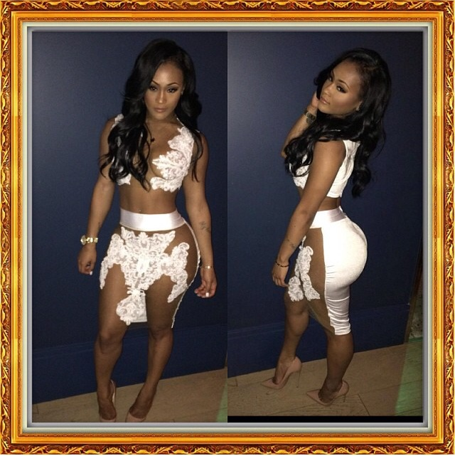 Bella » 2piece rose dress white available in black, red, & red wine