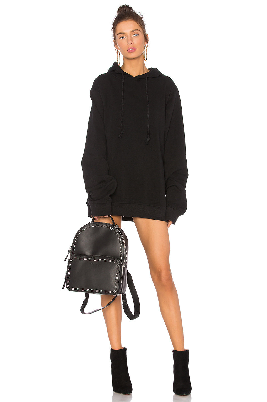 DANIELLE GUIZIO DG Oversized Hoodie Dress in black