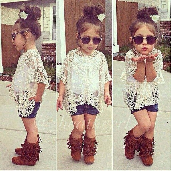 blouse white lace cute outfits shorts fringes boots lovely sunglasses hippie shoes