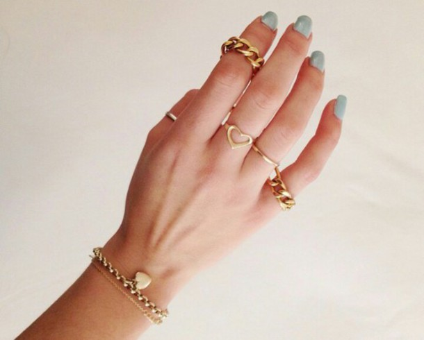 jewels ring gold chain