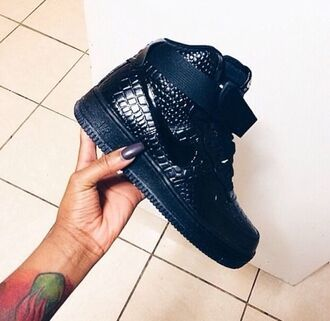shoes basketball shoes nike nike shoes air force crocs nike air force 1 nike air crocs black high top sneakers