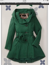 girly,pea coat,hood,dark green,swimwear,zullily website ad,forest green,has a hood