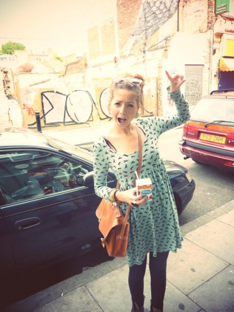 Dress Zoella Clothes Cute Bird Print Bag Wheretoget