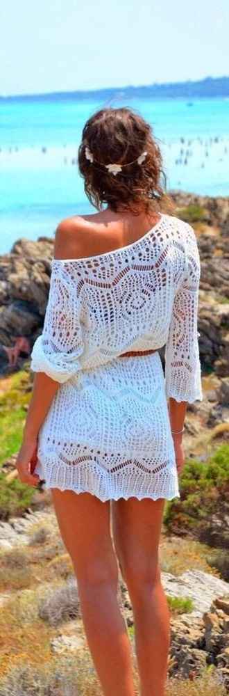 dress white off the shoulder lace