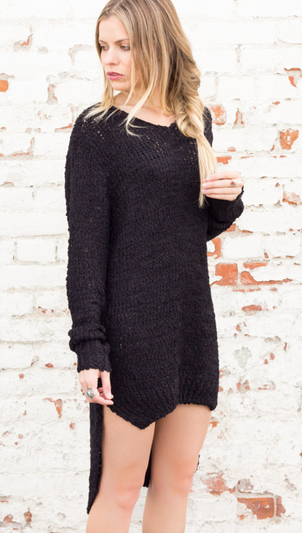 sweater knit dress top long sleeves knitted dress