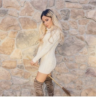 dress nude sweater dress sweater gabi demartino