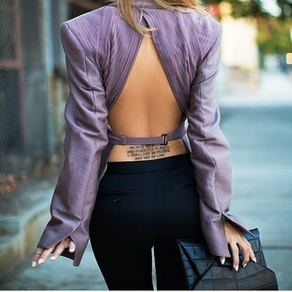 blouse purple dress top backless dress style