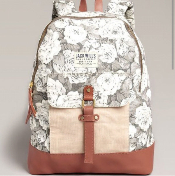 bag backpack roses