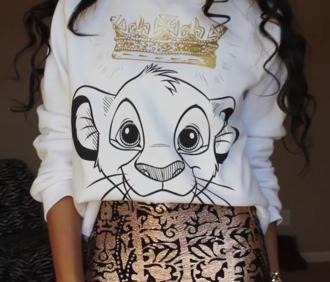 disney sweater the lion king skirt