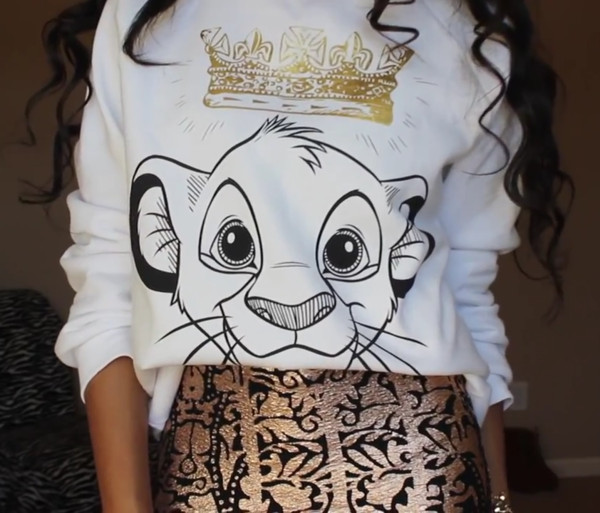 sweater skirt disney lion king