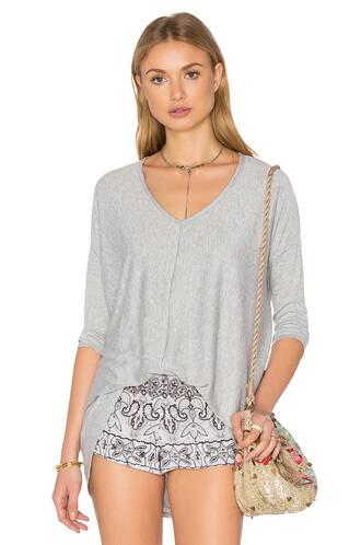 top knit grey