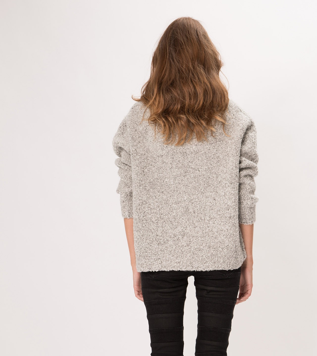 maje GLAIVE Oversize turtleneck angora sweater at Maje US