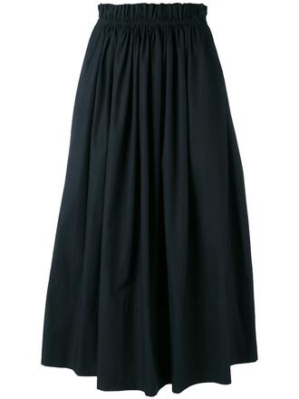 skirt women cotton blue