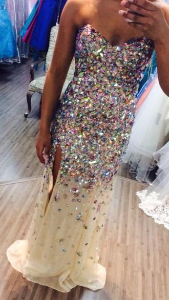 dress prom dress prom sparkle beads pretty help dress pretty prom pink jewels add a tag... dress perfect