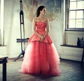 dress,evening dress,pink dress,tulle dress,ruffle,satin dress,princess dress