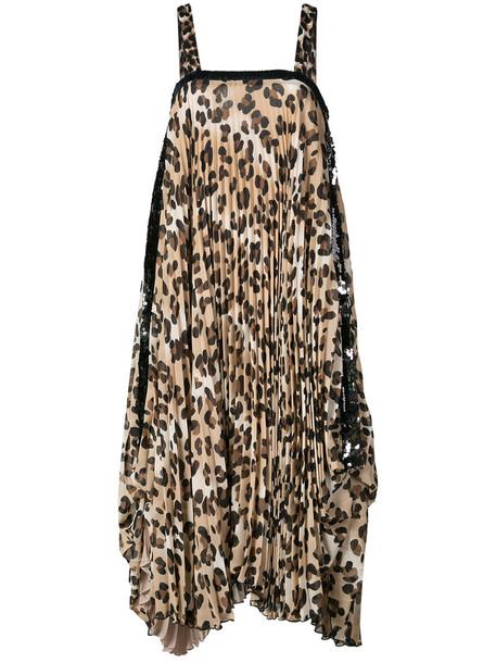 dress shift dress women print leopard print
