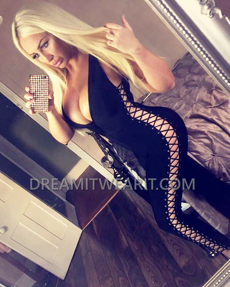 4a875b71c759dd Lace Up Side Bandage Jumpsuit Black
