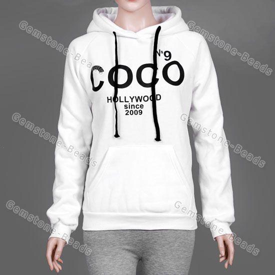 S XXL Korean Hoodie Coco Print Women Jacket Coat Sweatshirt Outerwear Tops | eBay