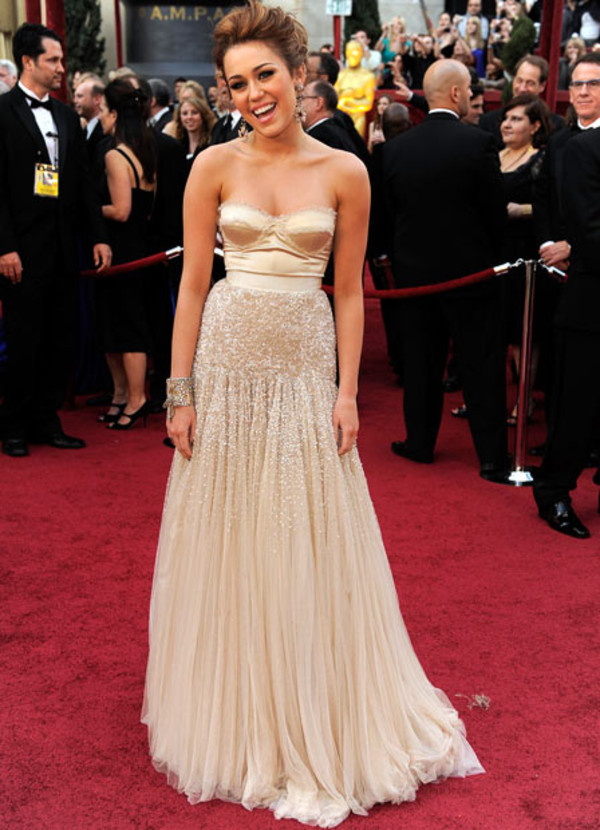 dress jenny packham miley cyrus bustier dress red carpet dress
