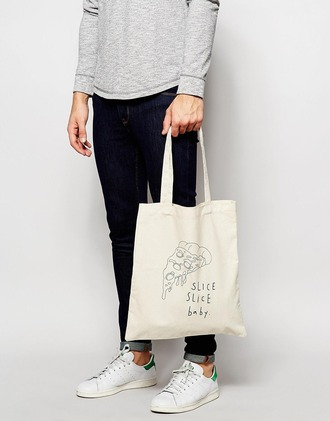 bag tote bag pizza stylish french girl style