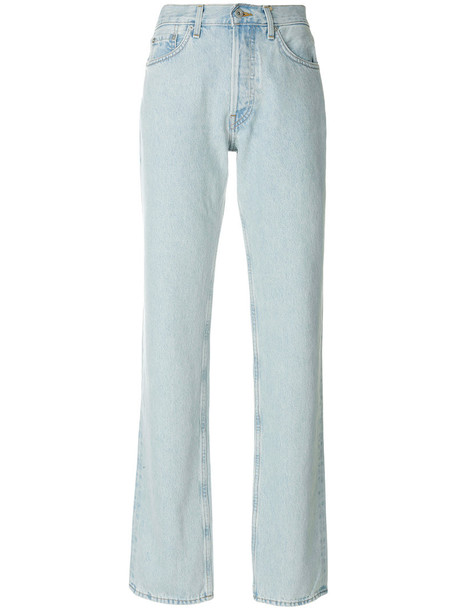 yeezy jeans straight jeans women cotton blue