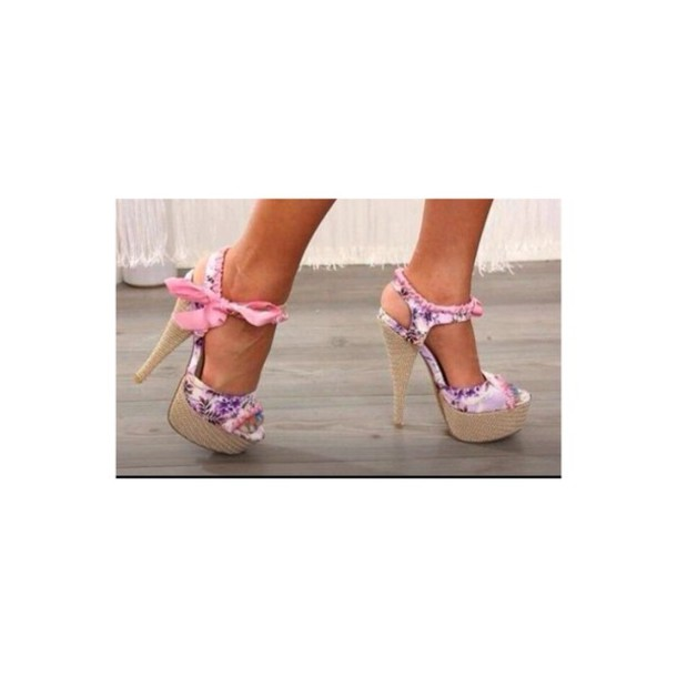 shoes pink high heels pink wedges cute shoes