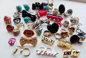 jewels,ring,gold,silver,colorful,big rings,shapes