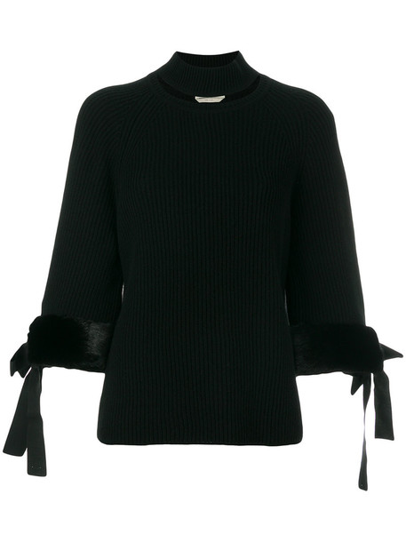 Fendi sweater women turtle cotton black