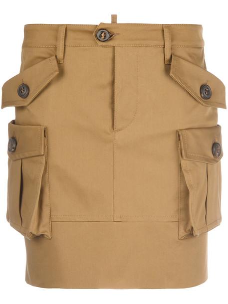 skirt mini skirt mini women spandex cotton brown