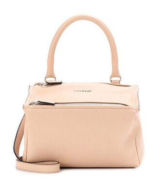bag shoulder bag leather pink