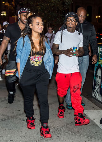 shoes nike nike sneakers lil wayne christina milian blouse jumpsuit