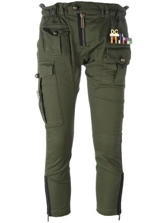 cropped arrow women spandex cotton green pants