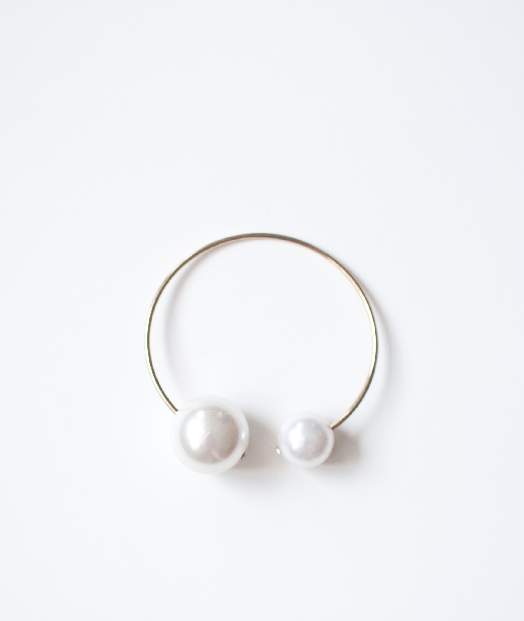 Double pearl bracelet/arm cuff