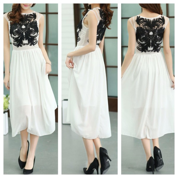 dress lace dress white dress cute dress clothes prom dress