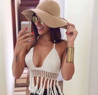 top crochet crop top