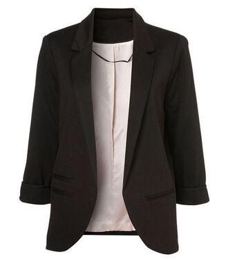jacket black blazer double breasted blazer lined blazer slim cut blazer www.ustrendy.com
