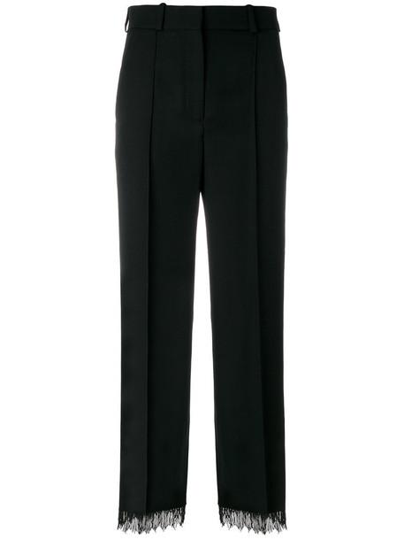 Racil cropped women beaded black wool pants